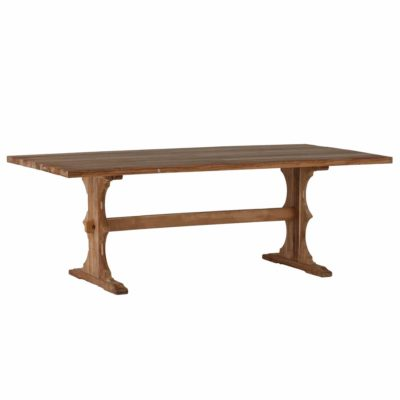 French Teak Rectangular Dining Table