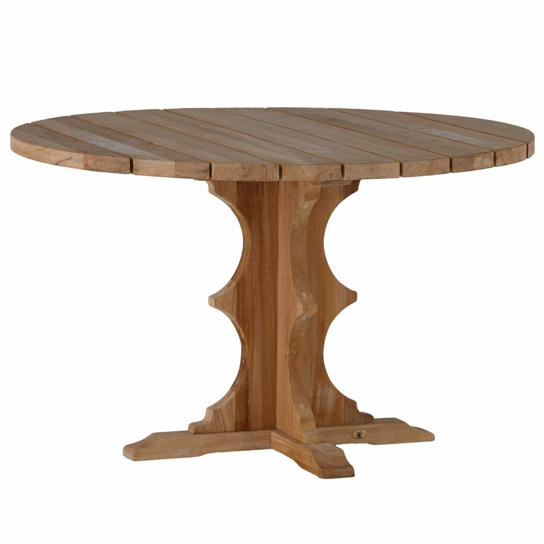 French teak round dining table summer classics for French round dining table