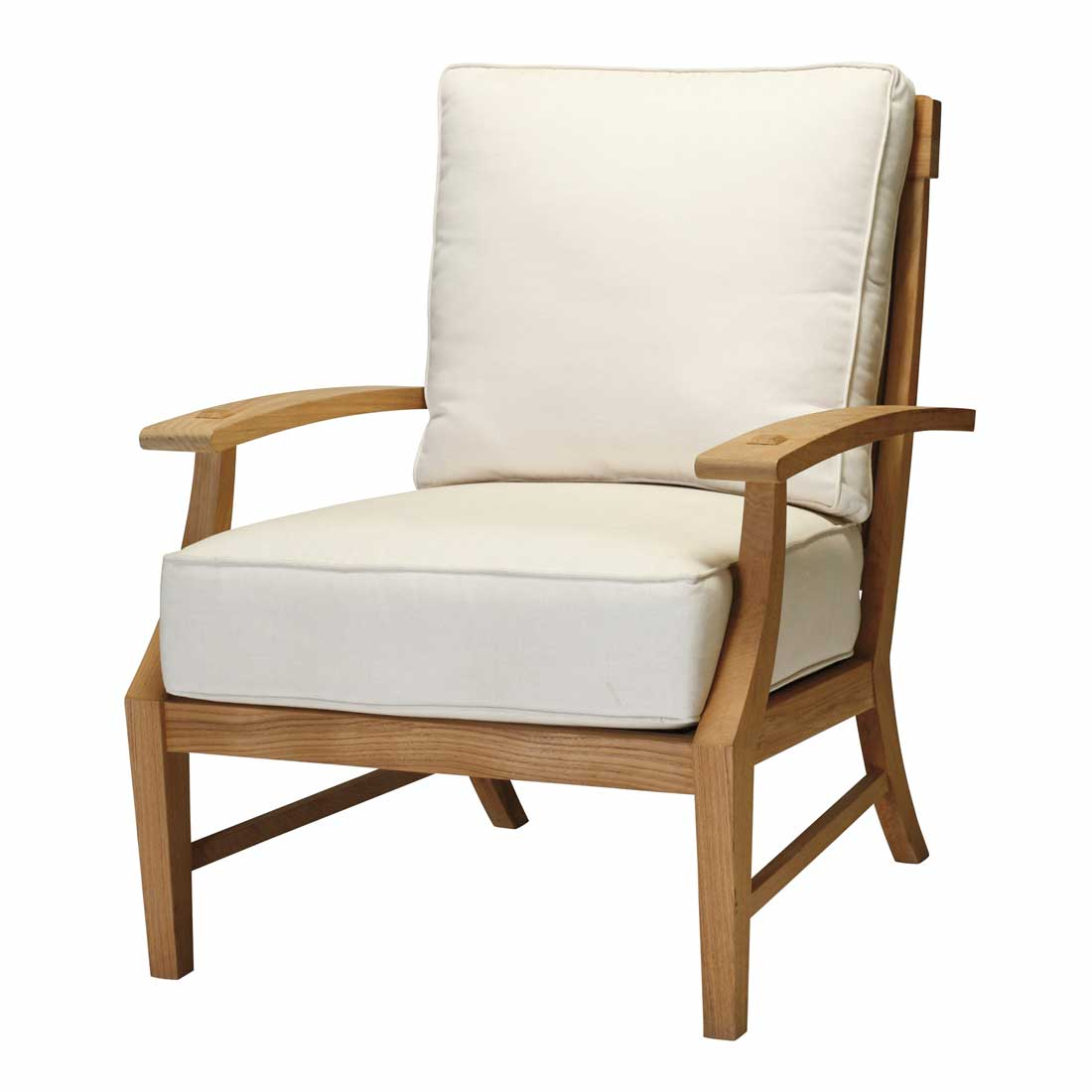 Teak outdoor lounge chairs - Croquet Teak Lounge Chair