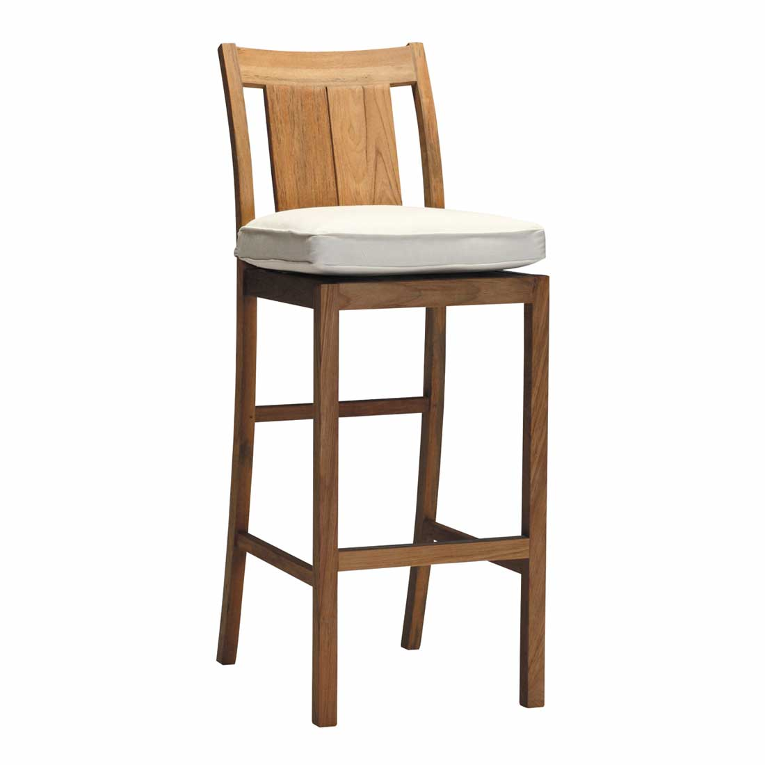 Croquet Outdoor Teak Bar Stool