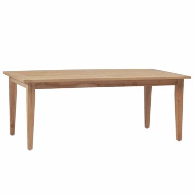 Croquet Teak Rectangular Farm Table