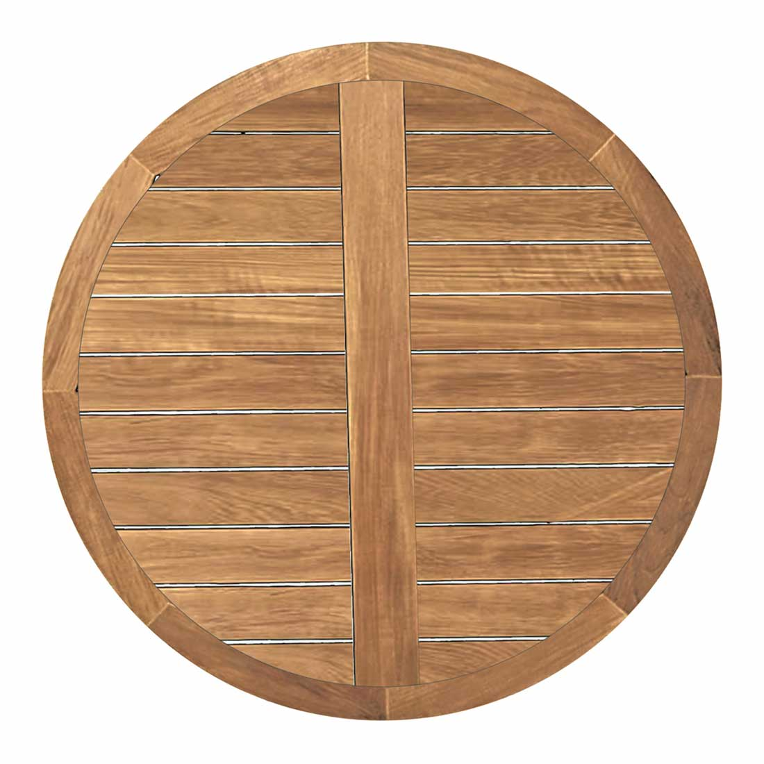 club teak 48 round teak table top