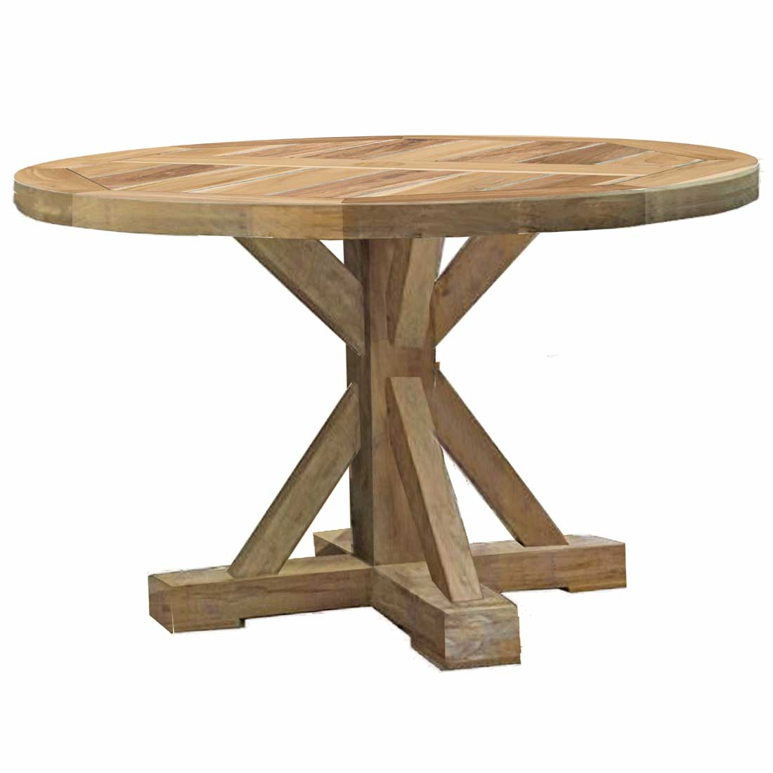 Outdoor round dining table - Modena Teak Round Dining Table