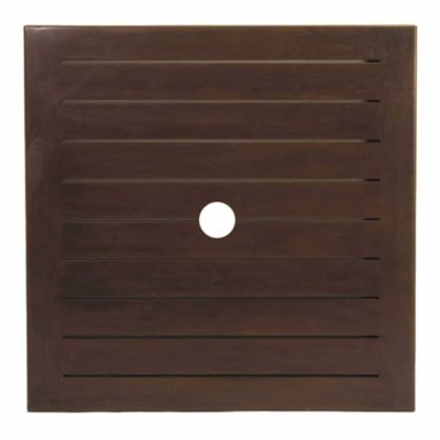 "Resort 42"" Square Slatted Table Top (HOLE)"