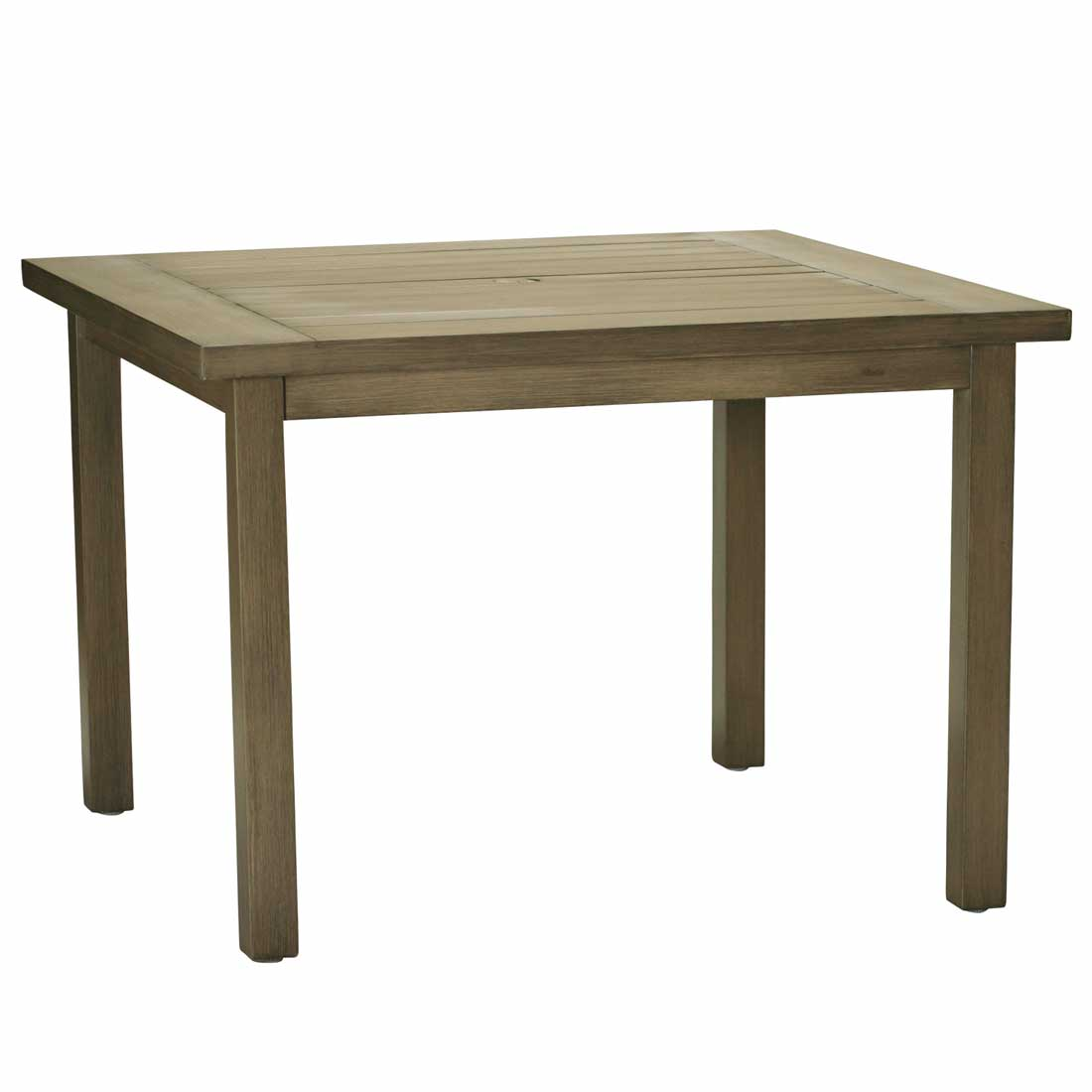 Club Aluminum Square Dining Table