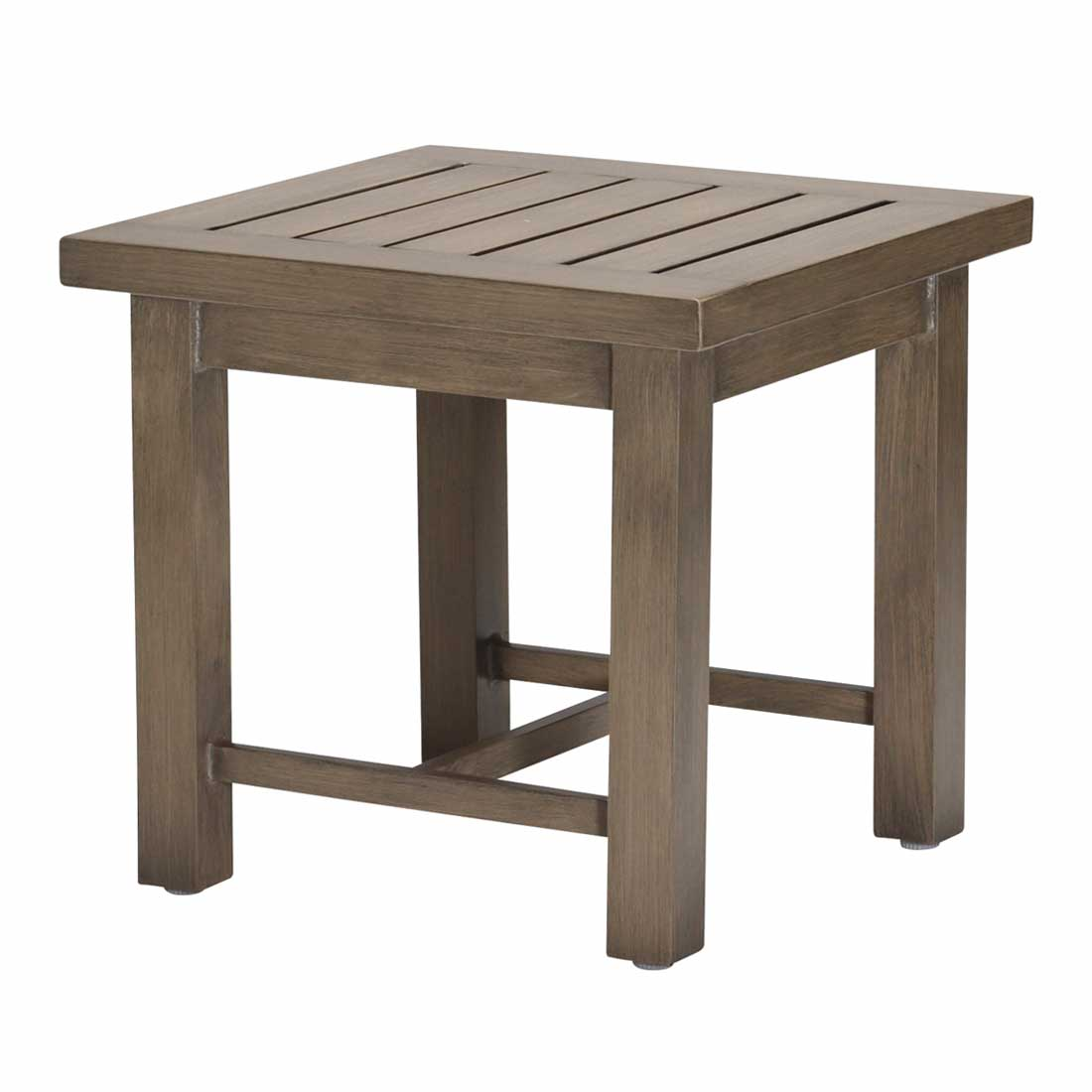Club Aluminum End Table Functional Versatility