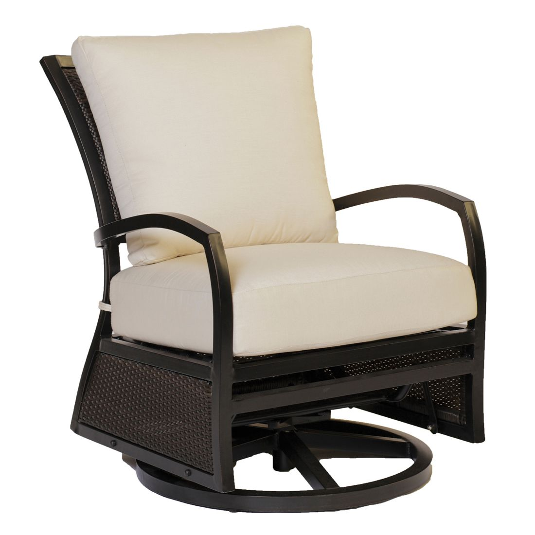 aire swivel outdoor glider – float on luxury
