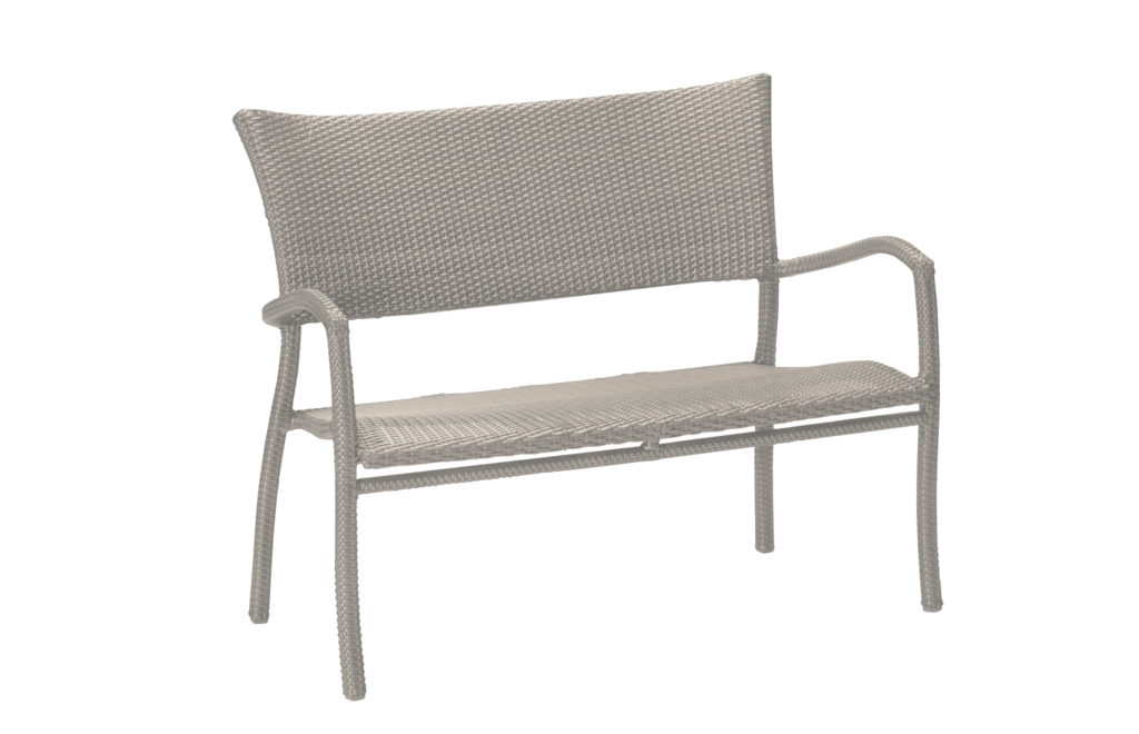Outdoor Patio Bench | Skye Woven Resin Collection | Summer Classics Garden Bench