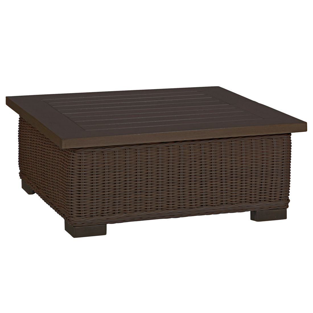 Rustic wicker outdoor coffee tables for Outdoor coffee table