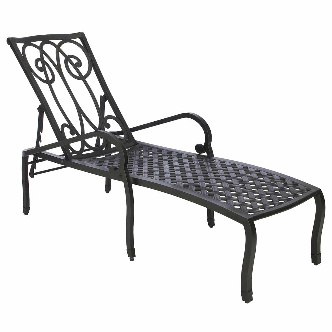Somerset cast aluminum chaise lounge for Cast aluminum chaise