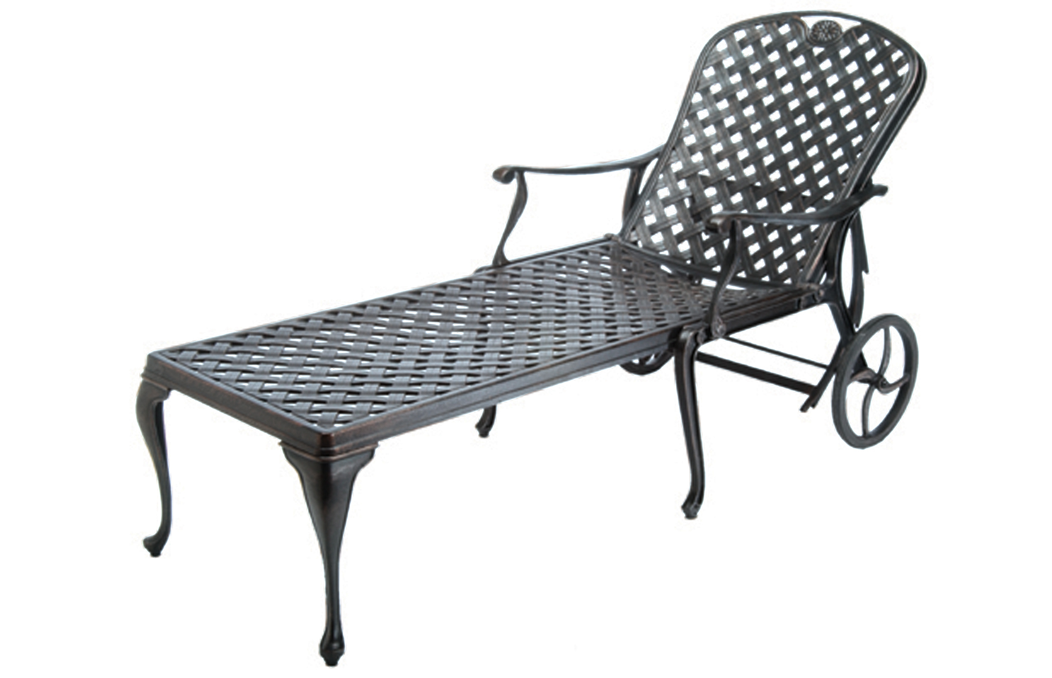Sedona 5 Cast Aluminum Chaise Lounge Provance Collection Summer Clics Outdoor Furniture
