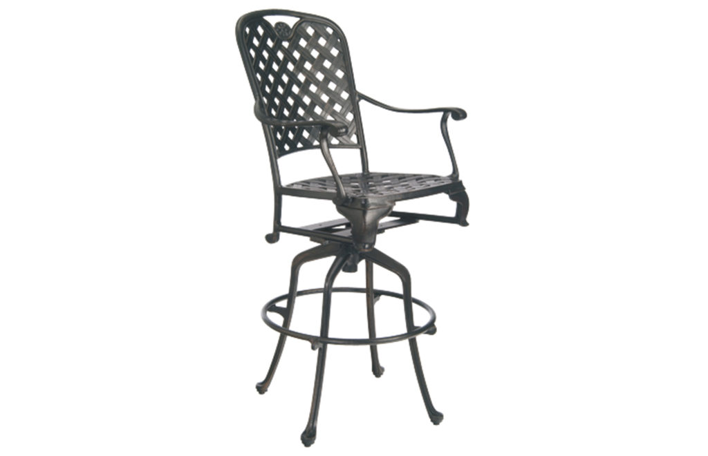Cast Outdoor Bar Stool | Provance Aluminum Collection | Summer Classics Outdoor Furniture