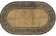 "Black Lagoon 48"" x 84"" Oval Table Top"