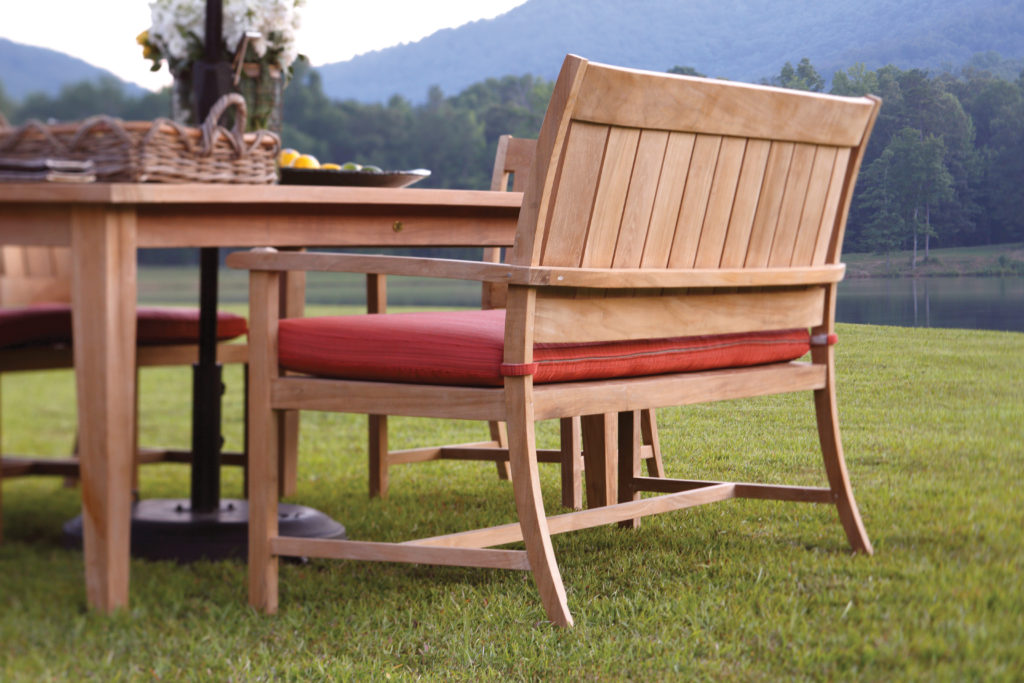 Club Teak Bench   Summer Classics. How to Remove Mildew from Outdoor Furniture