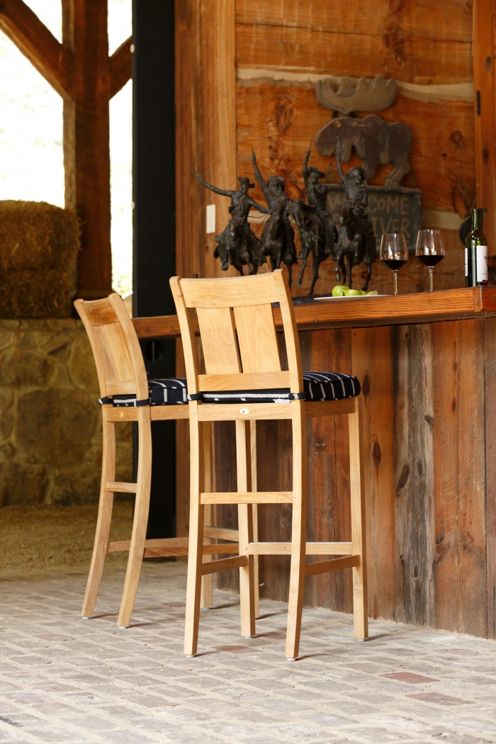 Croquet Teak bar stools