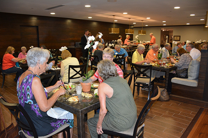 Moore Handley retirees dine in the SC cafe