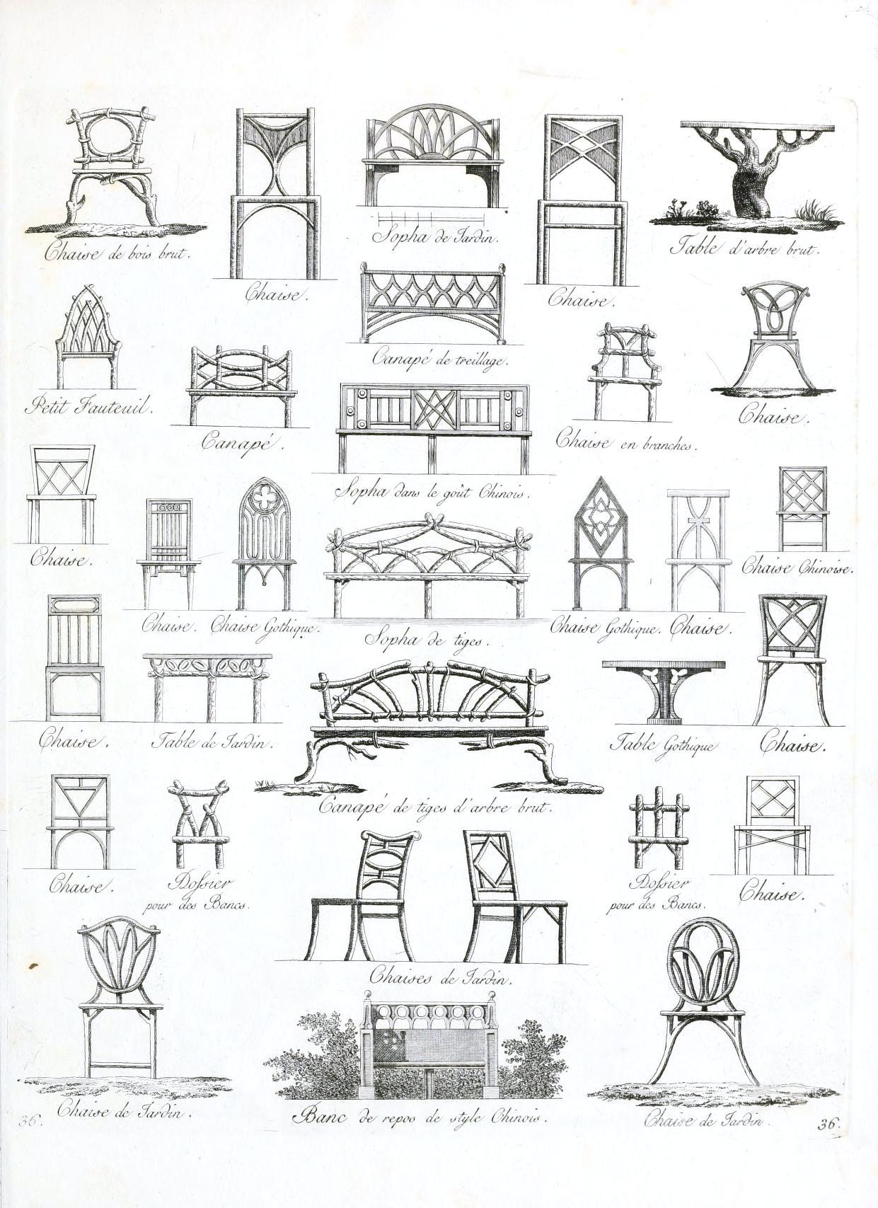 Early examples of garden furniture may have showcased great style, but ...