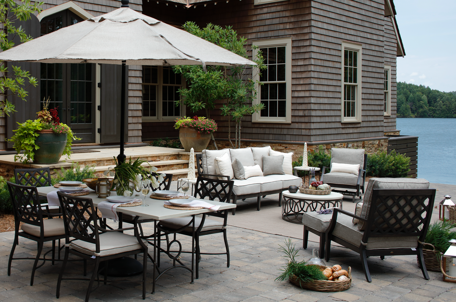 ... Are Perfect For You. If Your Backyard Is Full Of Flowering Plants And  Colorful Pots, Then A Neutral Patio Umbrella Will Help Compliment All The  Hard ...