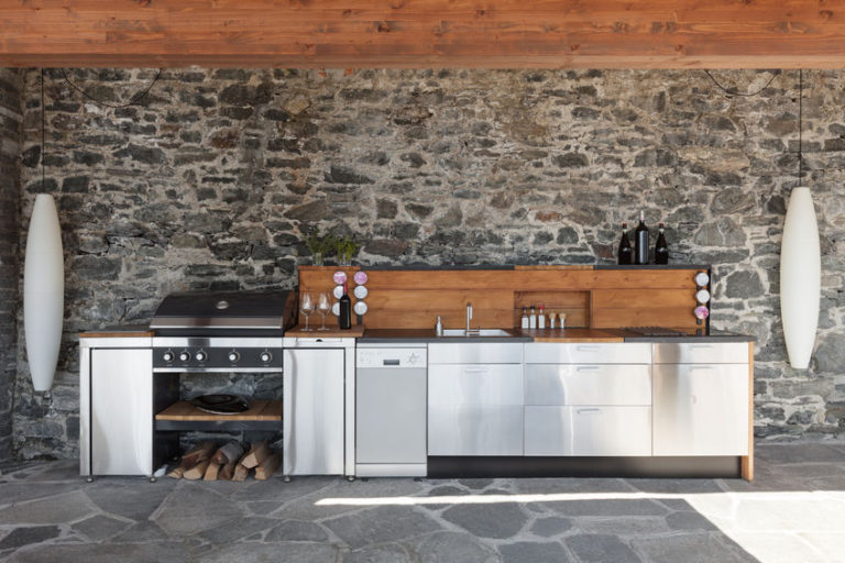 56029726 - house, modern kitchen with barbecue on the veranda