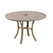 """Bordeaux 44"""" Metal Round Dining Table"""