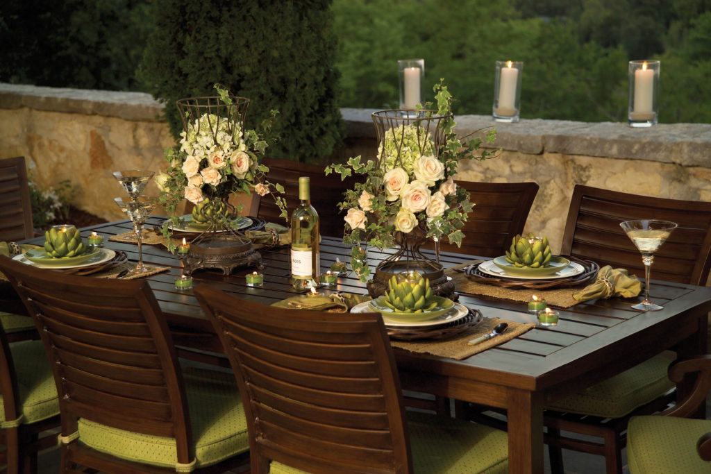 Outdoor centerpieces