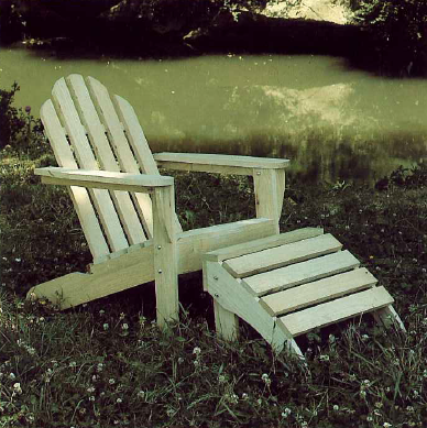 unfinished adirondack wood chair | Plantation Collection by Summer Classics 1993