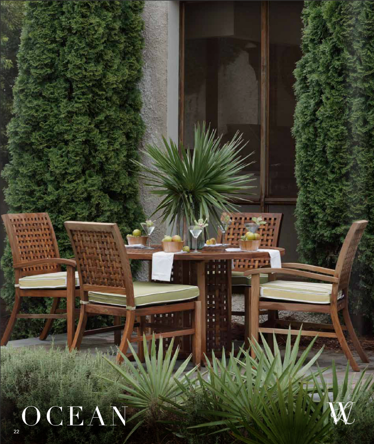 Whtie Label outdoor dining furniture from the Ocean Collection