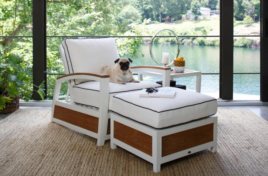 designer outdoor lounge chair