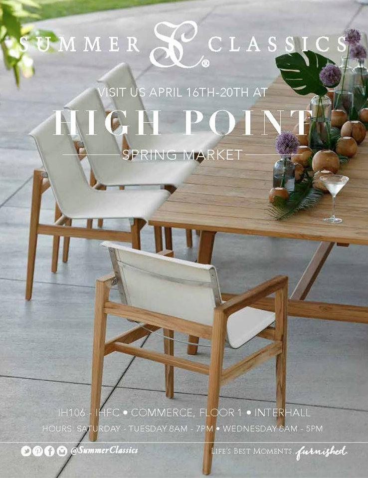 luxury outdoor furniture at spring high point market