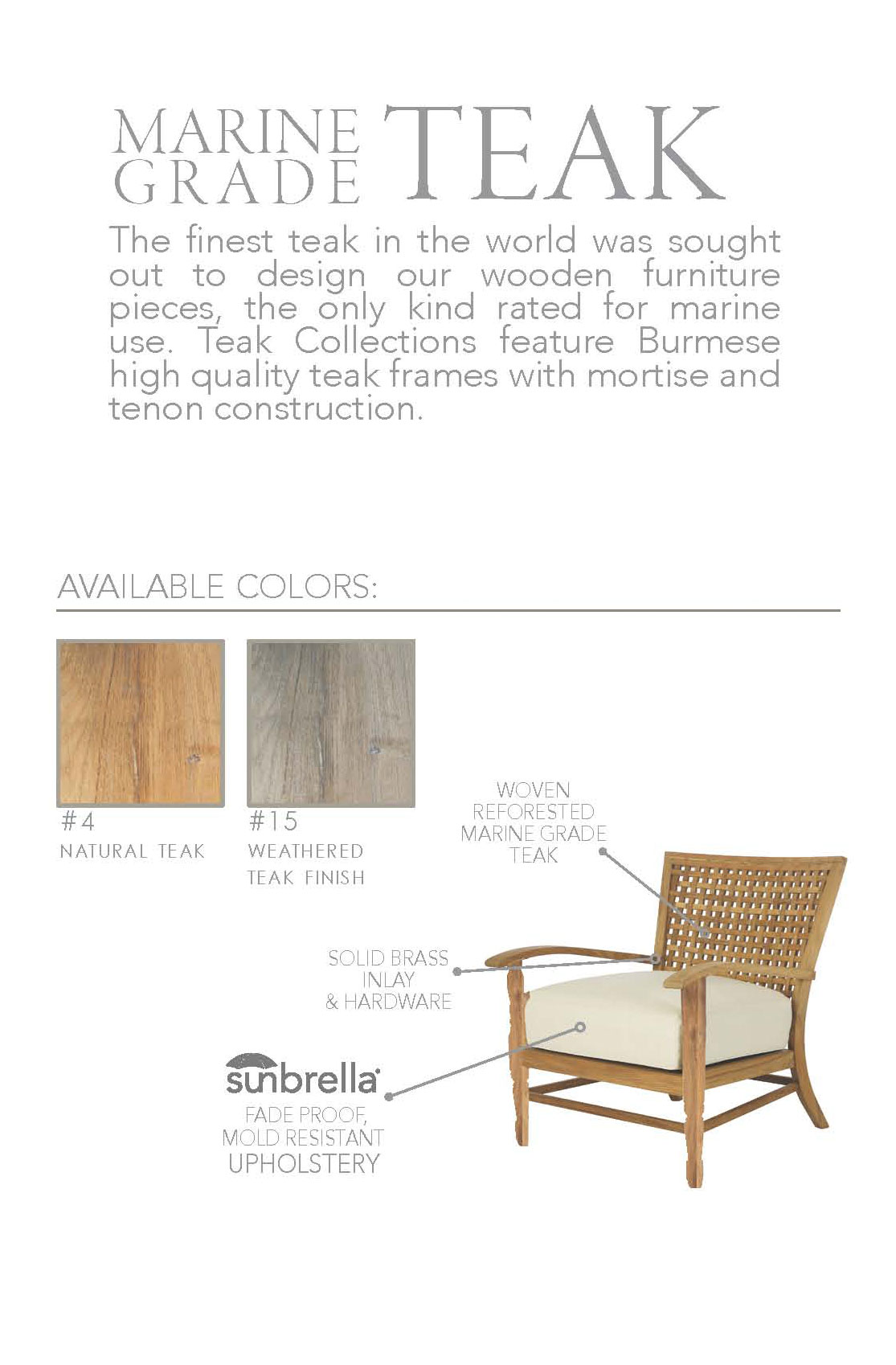 We Hope That You Will Enjoy Using Your Summer Classics Teak Collections As  Much As We Enjoyed Creating Them For You.