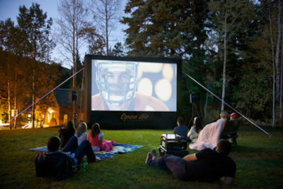 open air football projection
