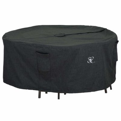 Round Dining Table Set Cover with Umbrella Hole