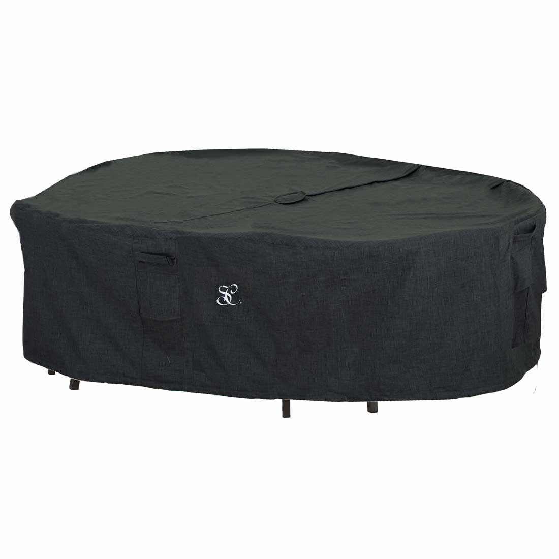 Rectangular Dining Table Set Cover With Umbrella Hole
