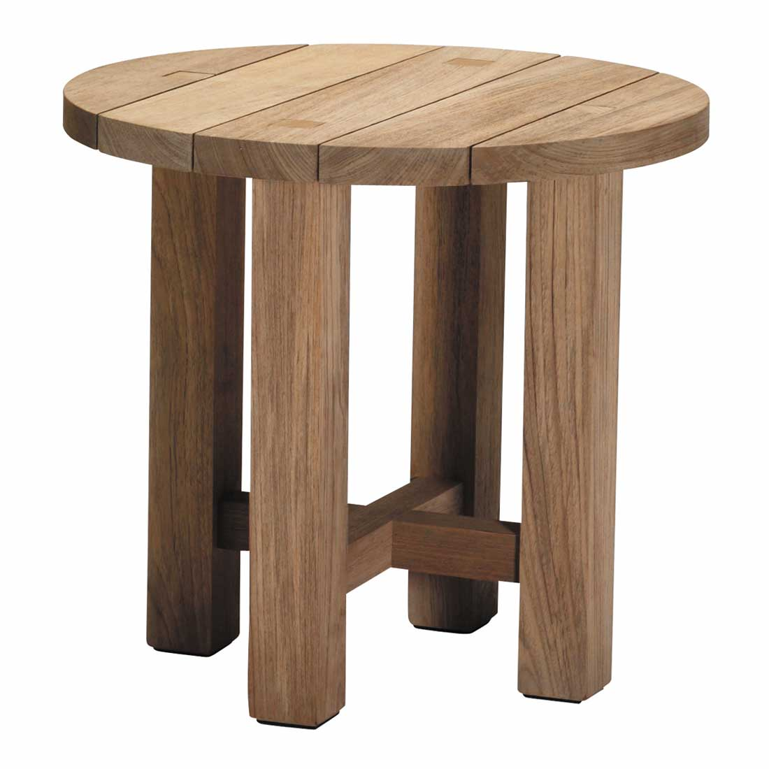 Croquet Outdoor Teak End Table