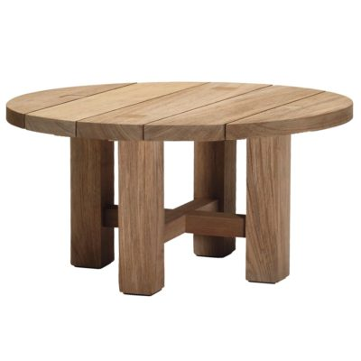 Croquet Teak Round Coffee Table