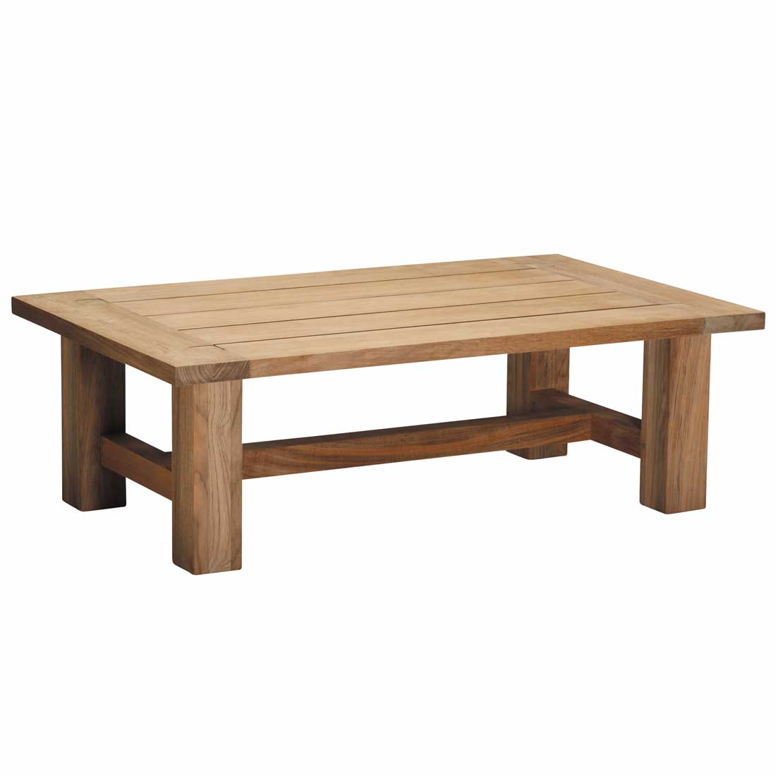 Croquet outdoor teak coffee table for Outdoor teak side table