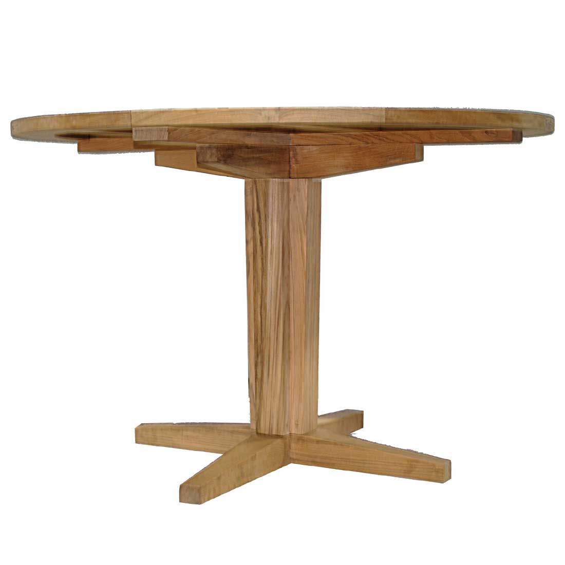 pedestal wood custom copper table base on top mounted dining round