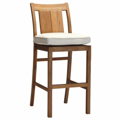 Croquet Teak Counter Stool