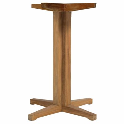 Club Teak Pedestal Bar Base
