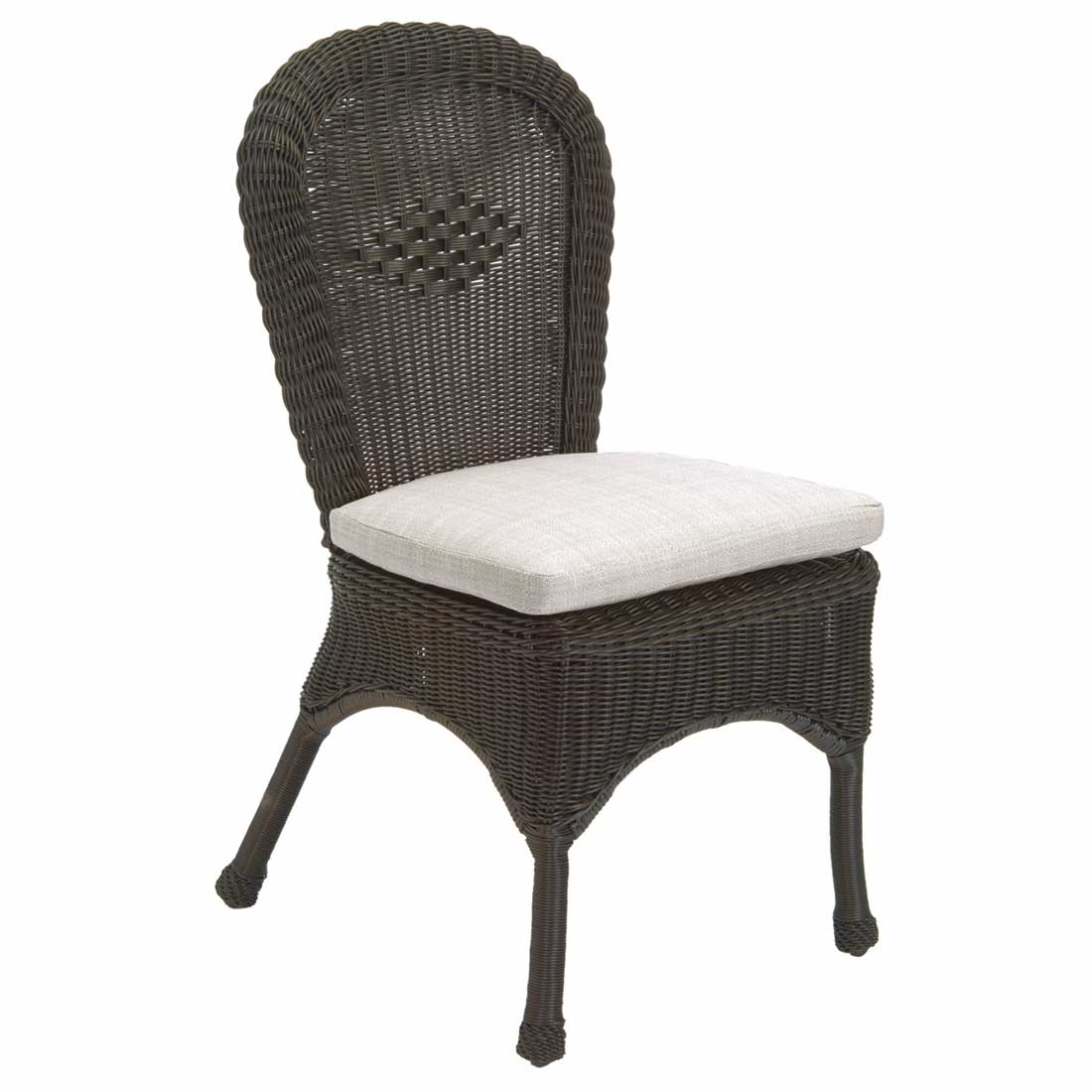 Classic Outdoor Wicker Side Chair