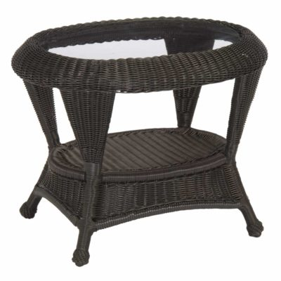 Classic Wicker End Table