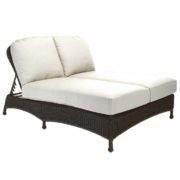 Classic Wicker Double Chaise Lounge