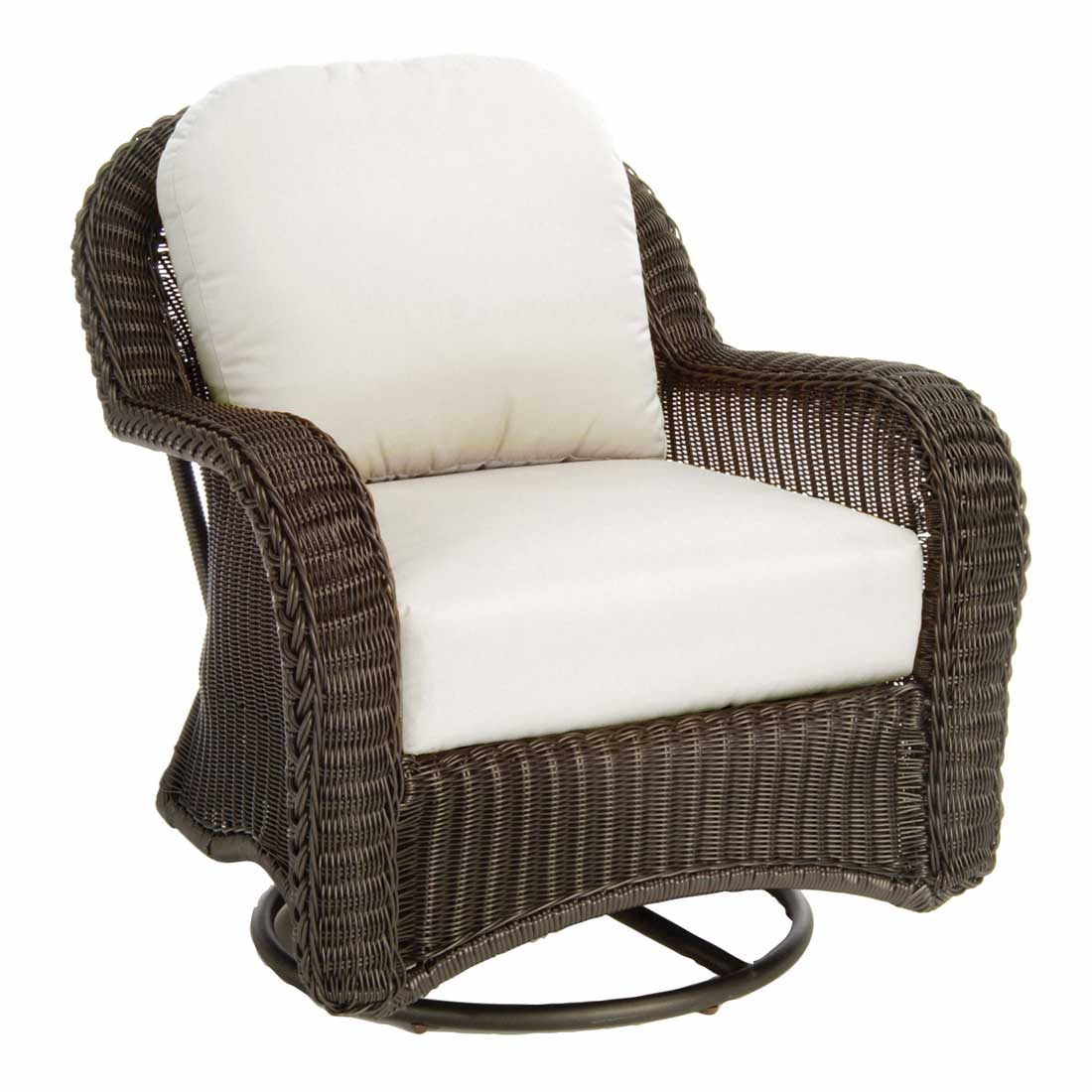 Classic wicker swivel glider