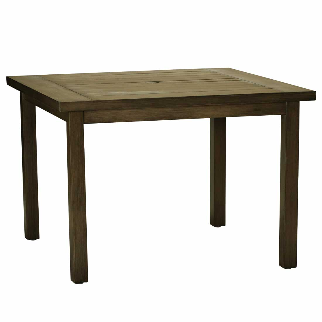 Dining Table Square: Club Square Aluminum Outdoor Dining Tables