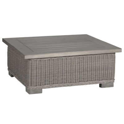Rustic Wicker Outdoor Coffee Tables - Gray wicker coffee table