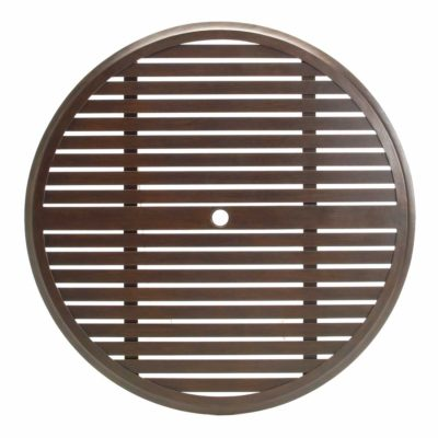 """Slatted 60"""" Round Dining Table Top (HOLE)"""