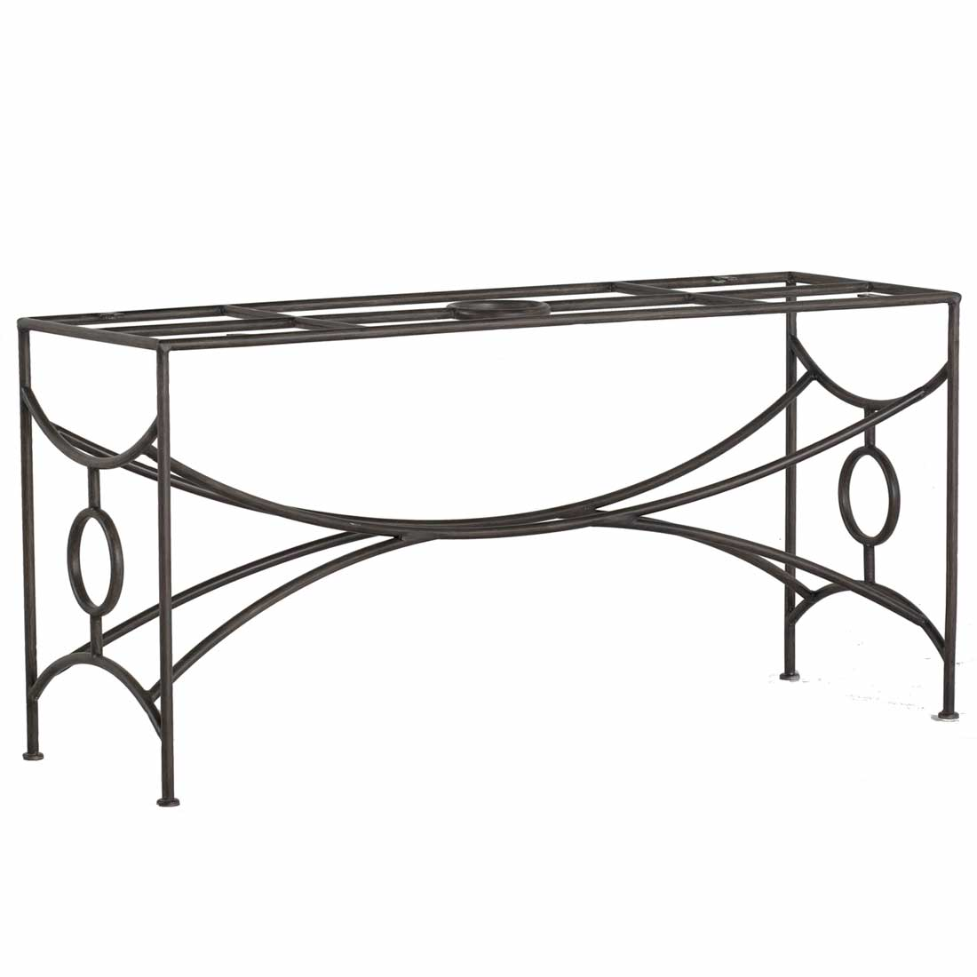 Trestle Iron Dining Table Base Summer Classics - Black metal dining table base