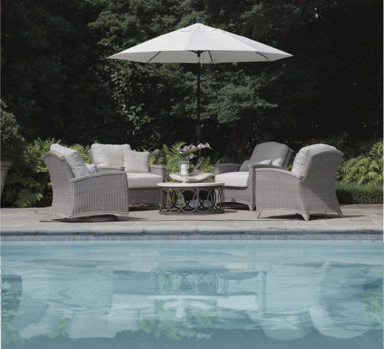 outdoor lounge furniture with swivel chairs summer classics