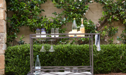 How to Style an Outdoor Barcart
