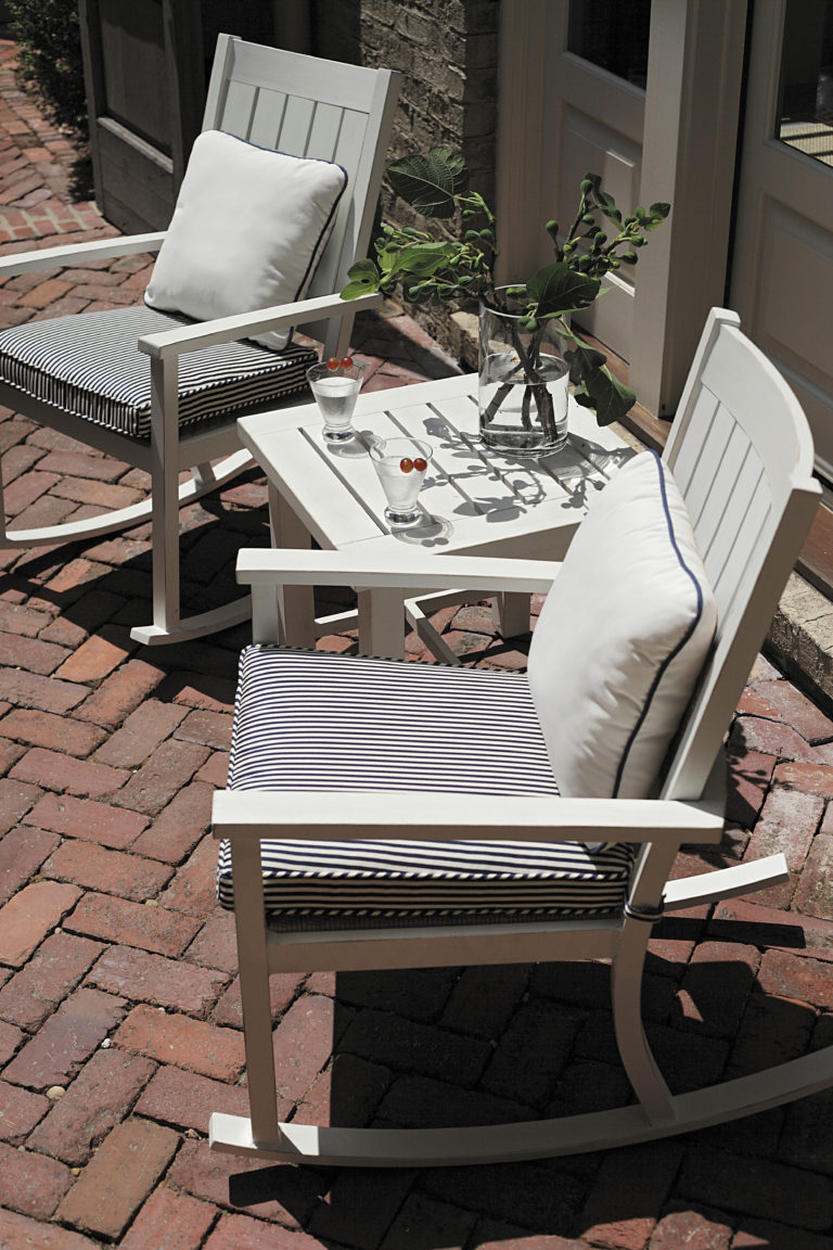 bistro table with swivel rocking chairs summer classics